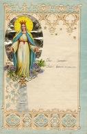 ENFANTINA Lettre Courrier D'enfant Avec Découpi Chromo Papier Gaufré Religieux - Découpis