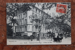 NICE (06) - BOULEVARD VICTOR-HUGO - L'HOTEL DU RHIN - Cafés, Hôtels, Restaurants