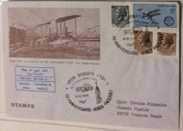 POSTA AEREA - 70 ANNIVERSARIO VOLO AEREO FACCIOLI - VENARIA 1979 - 6. 1946-.. Repubblica
