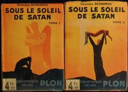 Georges Bernanos - Sous Le Soleil De Satan - Tomes 1 & 2 - Bibliothèque PLON  N° 119-120- ( 1932 ) . - Bücher, Zeitschriften, Comics
