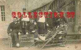 OF 71 ☺♥♥ AUTUN - HOPITAL MILITAIRE TEMPORAIRE < CARTE PHOTO De POILUS BLESSES GUERRE 14 - SOLDAT POILU - Autun