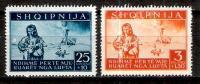 Occupation Allemande En Albanie N° 315 Et 318 Neufs Avec Adhérences Au Dos - Occupation 1938-45