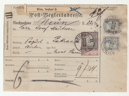 Austria Post-Begleitadresse Nachname Postal Stationery 1891 Wien, Neubau II To Pakrac B190210 - Briefe U. Dokumente