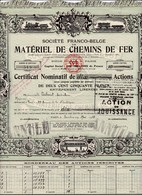 Th7CHEMIN De FER : FRANCO-BELGE : Certificat1932N° 243.00 - Autres