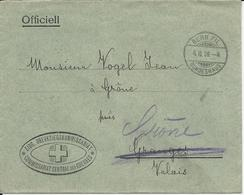 9, Env. Officielle Commissariat Central Des Guerres, Obl. Bern Fil 4.II.08, - Suisse