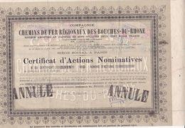 Th7CHEMIN De FER : BOUCHES Du RHONE : Certificat1943N° 25 - Otros