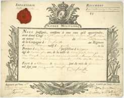 Guerre De Sept Ans - Volontaires Etrangers - 1759 Sezanne Laprade Baron De Maltzan General Wittolsheim Gesté Cholet - Historical Documents