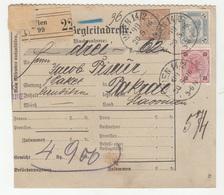 Austria Post-Begleitadresse Nachname Postal Stationery 1896 Wien To Pakrac B190210 - Briefe U. Dokumente