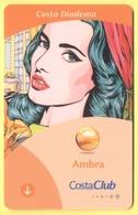 ITALY - COSTA - DIADEMA - CRUISE CABIN KEY CARD - CostaClub - Ambra - Cartes D'hotel