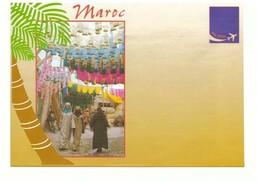 Maroc. 2 Enveloppe Illustrées. Marrakech : La Menara Et Boutique. - Autres Collections