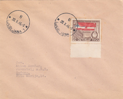 LJUBLJANA 20.10.1945 COVER , BEOGRAD 20.10.1944 STAMP - Covers & Documents