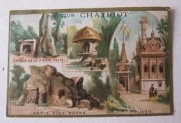 CHROMO COMESTIBLES VICTOR CHATRIOT Paris - Epoque De La Pierre Polie - Abris Sous Roche - Russie - Imp CERF - Cromo