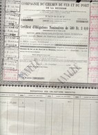 Th7CHEMIN De FER : REUNION : Certificat 1941N° 29 - Other