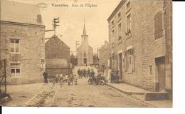 """Vaucelles """"Doische"""" - RARE - Rue De L'Eglise - Moto - Animée - Ed: Arthur Regnier - Circulé: 1942 - 2 Scans - Doische"""