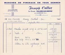 39 LE CROZAT VILLARD SUR BIENNE Par LA RIXOUSE  FACTURE 1966 Manches De Pinceaux  Joseph COTTER     X25 Jura - 1950 - ...