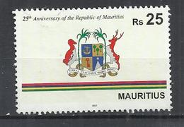 MAURITIUS 2017 - 25th ANNIVERSARY OF THE REPUBLIC - POSTALLY USED OBLITERE GESTEMPELT - Maurice (1968-...)