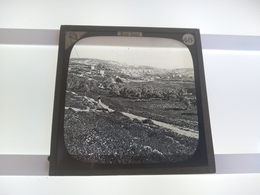 HOLY LAND  BIBLE LANDS   NAZARETH SOUTH   Plaque De Verre GLASS SLIDE CIRCA EARLY 1900 - Diapositivas De Vidrio