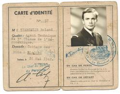 """Carte D'identité """"Atelier Industriel De L'Air"""" Toulouse-Blagnac - Old Paper"""