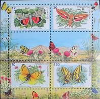 Tajikistan   1998   Butterflies  S/S  MNH - Tadjikistan