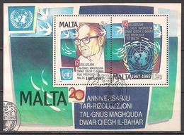 Malta (1987)  Mi.Nr.  Block 10  Gest. / Used  (1bl-01.1) - Malta