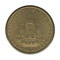 75001 - MEDAILLE TOURISTIQUE MONNAIE DE PARIS 75 - Basilique Du Sacré Coeur - 2004 - Monnaie De Paris