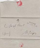 Usingen, Briefumschlag Von 1842 Nach Diez - Documentos Históricos