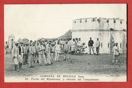 CPA CAMPANA DE MELILLA 1909 - N°62 Fortin Del Hipodromo , Y Entrada Del Campamento - Melilla