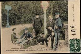 Cp Meurthe Et Moselle, Französische Und Deutsche Zollbeamte An Der Grenze - France