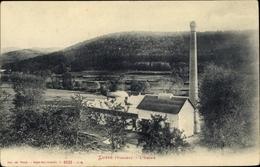 Cp Lusse Lothringen Vosges, L'Usine, Fabrik, Schornstein - France