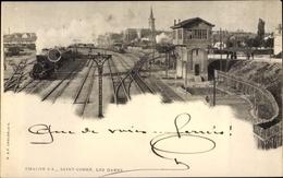 Cp Chalon Sur Saône Saint Cosme Saône Et Loire, Les Gares, Chemin De Fer - Autres Communes