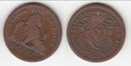 **** BELGIQUE - BELGIUM - BELGIE - 2 CENTIMES 1833 LEOPOLD I ROI DES BELGES **** EN ACHAT IMMEDIAT - 1831-1865: Léopold I