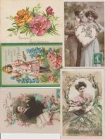 N 171 Lot 100 CPA Différentes Fantaisie - Cartes Postales
