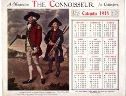 ALMANACH A Magazine THE CONNOISSEUR  Calendar 1914  To The Sociéty Of  Coffers At  Blackheath  COLLECTOR FEVR 2019 ABL 7 - Calendriers