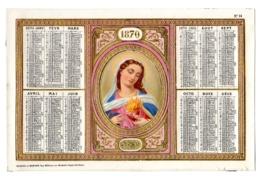 "CHROMOS ALMANACH - CALENDRIER  1870  CHROMO Allegorie  Médaillon ""Religion""    FEVR 2019 ABL 7 - Calendriers"