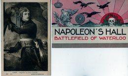 Waterloo - Napoléon - Monument - 1945 - 2 Cartes - Waterloo