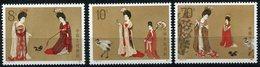 """CHINE N°2642/2644 ** PEINTURE CHINOISES """" BEAUTES EN HABITS A FLEURS """" DYNASTIE TANG - 1949 - ... République Populaire"""