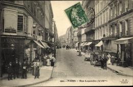 Cp Paris XVII., Rue Legendre, Geschäfte - France