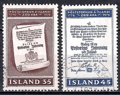 Iceland 1976 - The 200th Anniversary Of The Icelandic Post Service - 1944-... Republik