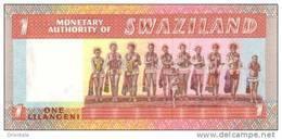 SWAZILAND  P. 1a 1 L 1974 UNC - Swaziland