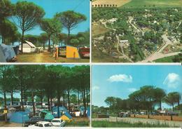 PUNTA MARINA (RAVENNA) CAMPING ADRIANO -4 CARTOLINE -FG - Ravenna