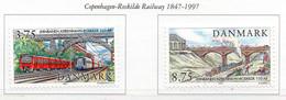 PIA - DANIMARCA -1997 : 150° Anniversario Della Linea Ferroviaria Copenhagen-Roskilde  - (Yv  1158-59 ) - Danimarca
