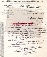 87- ST -SAINT OUEN SUR GARTEMPE-RARE LETTRE MANUSCRITE SIGNEE P. VENASSIER-MINOTERIE DE L' AGE BARRIERE-1936 - Artesanos