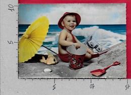 CARTOLINA NV ITALIA - Bimbo Al Mare Sulla Spiaggia - CECAMI 260 - 10 X 15 - Scènes & Paysages