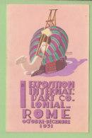 Publio MORBIDUCCI : Exposition Internationale D'Art Colonial, Rome 1931. Chameau. 2 Scans. Edition Bestetti - Other Illustrators