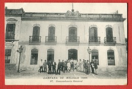 CPA CAMPANA DE MELILLA 1909 - N°97 Comandancia General - Melilla