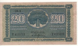 FINLAND   20 Markkaa   P86    Litt B  (1948)    1945 - Finland