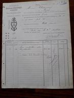 L12/85 Ancienne Facture. Aiserey. Sucrerie Alfred Bouvet. 1888 - France