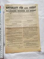 1943 WWII YUGOSLAVIA VRSAC OFFICIAL NEWSPAPERS SERBIA BANAT WERSCHETZ WW2 GERMANY MAGAZINE NEWS WAR DEUTSCHLAND Deutsche - 1939-45