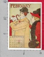 CARTOLINA NV FRANCIA - FEBBRAIO - FEVRIER - Calendrier Edite En 1895 A Boston - 10 X 15 - Pintura & Cuadros