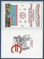 Monaco Carte Postale - FDC - Monacophil 2002 - Club De Monte Carlo - FDC
